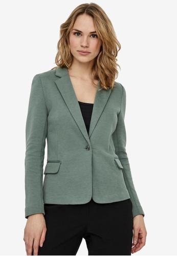 Vero Moda green Julia Long Sleeve Blazer 6E572AA4CFED14GS_1