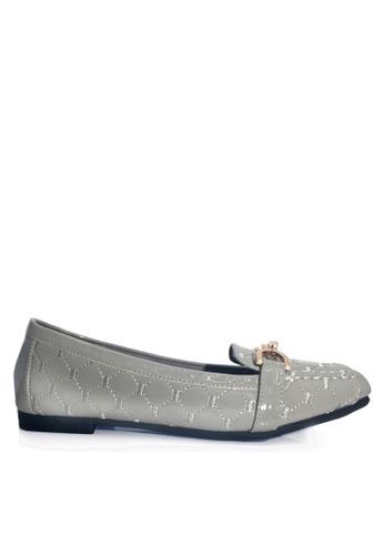 Twenty Eight Shoes 灰色 舒適菱格車縫線平底鞋 VL309978 9381DSH14CE81FGS_1