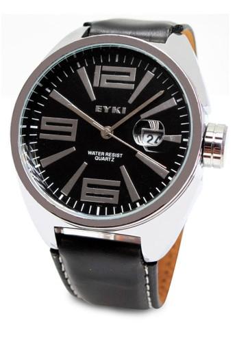 EYKI E-TIMES EET8268 日期皮革手錶, 錶類, 皮esprit服飾革錶帶