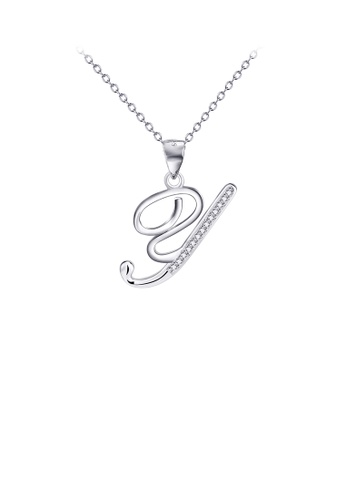 Glamorousky white 925 Sterling Silver Fashion Simple English Alphabet Y Pendant with Cubic Zirconia and Necklace 8F2C0AC55C5F73GS_1