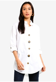 425adb39a7 River Island white Button Front Cotton Shirt B0805AA7680695GS 1