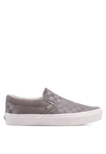 VANS grey Slip-On Checker Emboss VA142SH0SWPPMY_1