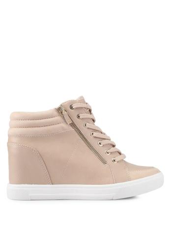 ALDO white Kaia Wedge Sneakers E5F3CSHB68C0FDGS_1