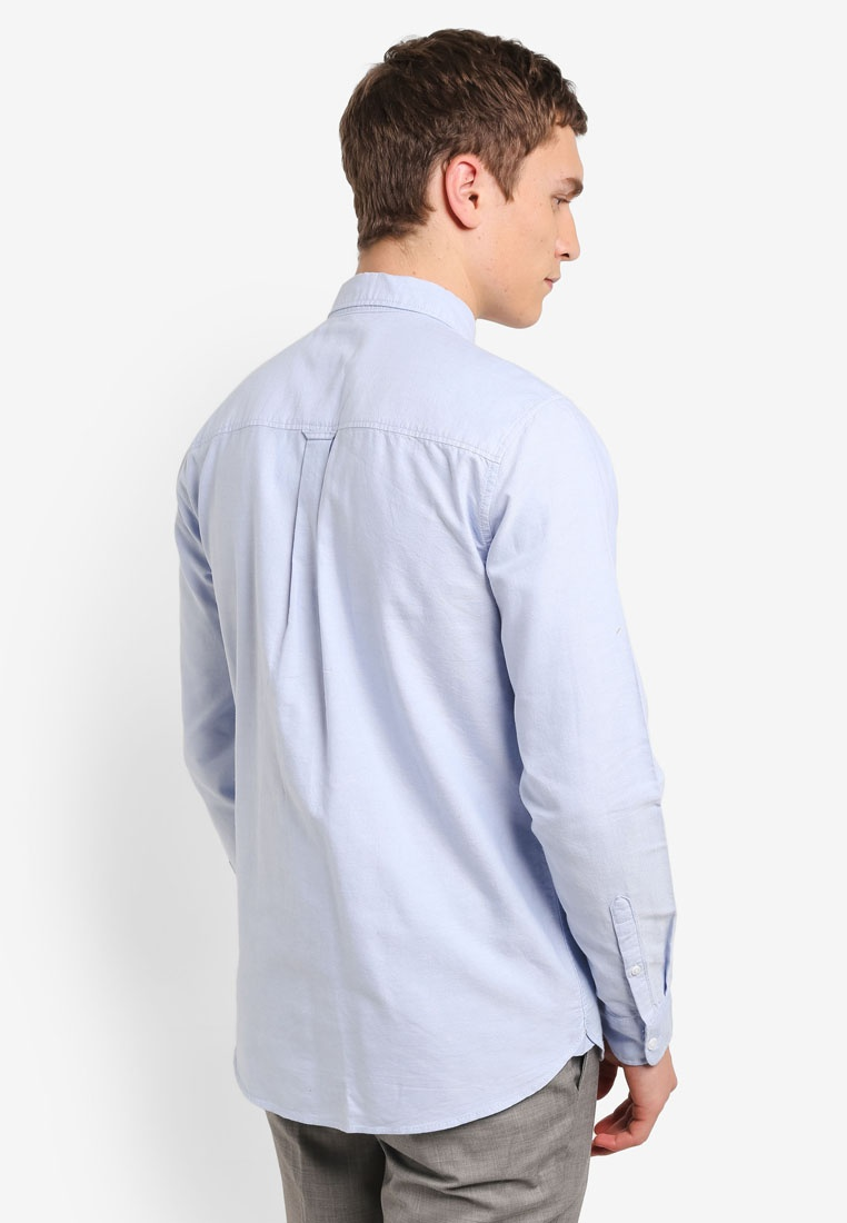 Blue Down Oxford Blue Topman Button Shirt xqTwzSC