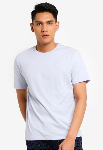 Topman blue Blue Classic T-shirt 84F00AAC3DEDDBGS_1