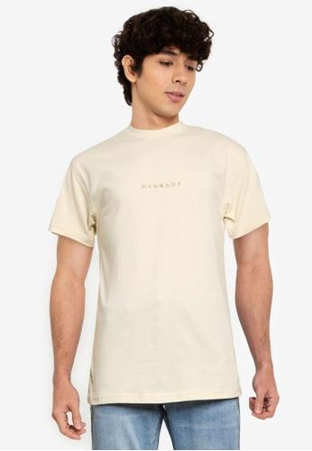 Mennace beige Essential Regular T-Shirt 175F1AACF89C28GS_1