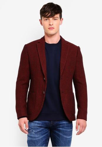 Sisley 紅色 舒適修身西裝外套 F6F35AA9C60179GS_1