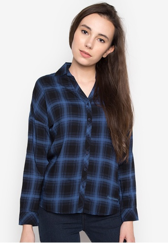 Freego blue Checkered Buttondown Shirt FR760AA0IK1APH_1