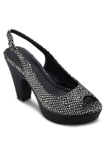 Staceyesprit分店 厚底露趾高跟鞋, 女鞋, 厚底鞋