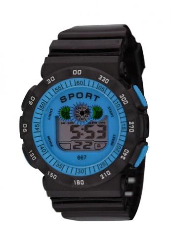 Dooka blue 667 multifunction digital sports wrist watch DO079AC00MDFPH_1