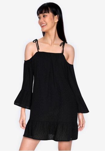 ZALORA BASICS black Lace Swing Dress 0CDEBAA2DE828FGS_1