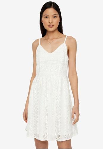 Vero Moda white Honey Lace Pleated Singlet Dress 6845EAAFF0096FGS_1
