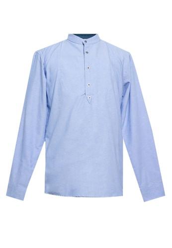 Jimmy Martin blue Long Sleeve Casual Shirt 6A6C5AACCFBD80GS_1