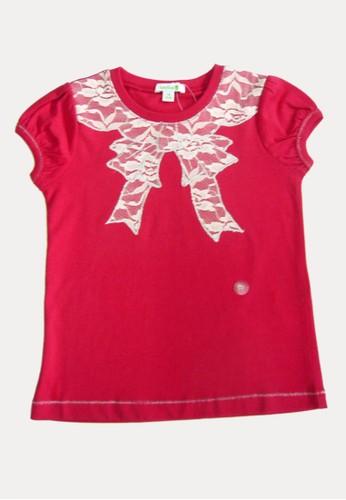 Bossini red Bossini Kids Girl T-Shirt Dry Red (74084415024) B8DF8KA7D17D83GS_1