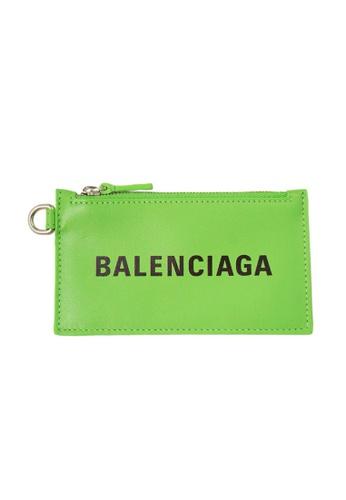 BALENCIAGA green Balenciaga Logo Print Lanyard Card Holder in Light Green 99D20AC6A04D89GS_1