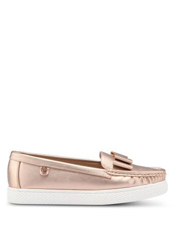 Carlton London gold Bow Front Loafers D4415SH4C9A636GS_1