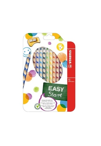 Stabilo STABILO EASYcolors Colouring Pencils Left Handers with Sharpener - (Wallet of 12) 53479HLB75FC57GS_1