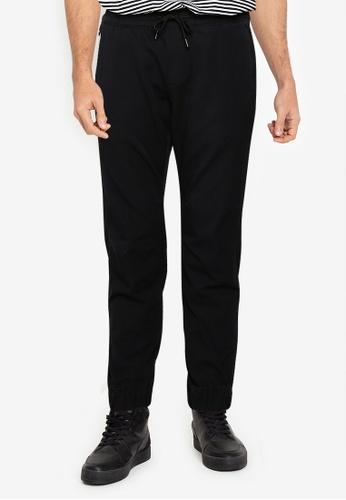 Abercrombie & Fitch black Cross Over Jogger Pants 8F6DEAADDE74BCGS_1
