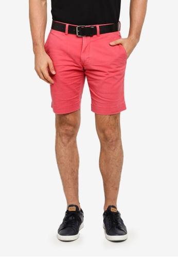 polo ralph lauren red Cotton Twill Flat Shorts 423DAAAD375290GS_1