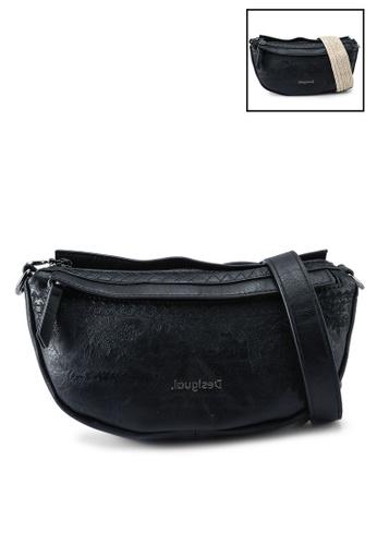 Desigual white Half-Moon Shoulder Bag 1E2A9ACE1969C0GS_1