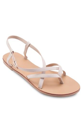 Jaden 多帶夾腳繞踝涼鞋,esprit 請人 女鞋, 鞋