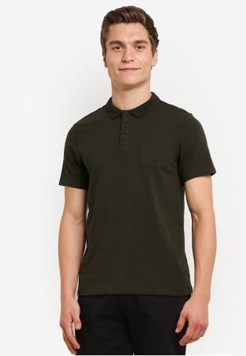 Burton Menswear London green Stretch Fit Polo Shirt BU964AA0RULPMY_1
