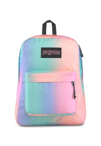 Ombre Superbreak Label 25l Jansport Pastel Backpack Black
