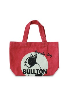 Bullton Dog In Circle Mini Lunch Tote Bag