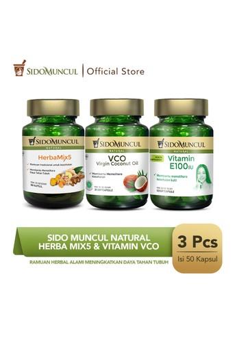 Sido Muncul green Sido Muncul Natural Herba Mix5 + Virgin Coconut Oil + Vitamin E100 IU 71276ES0A80E1AGS_1