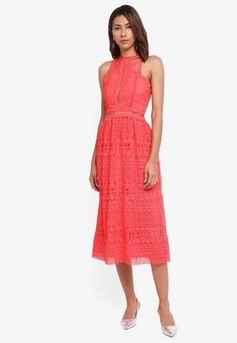 River Island pink Crochet Midi Dress C5881AA5EE809CGS_1
