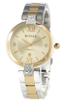 harga Bonia Rosso BNB10274-2123 Jam Tangan Wanita Stainless Steel Silver Kombinasi Gold Plat Gold Zalora.co.id