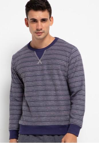 Sport High grey Sweater Long Sleeve Stripe CA7BCAA339FCE9GS_1