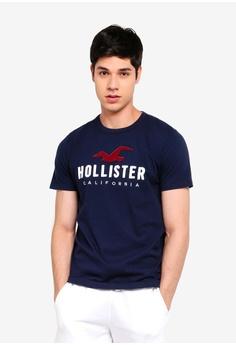 577bf820f3f Hollister navy Short Sleeve Logo T-Shirt C25F7AA0A9D322GS 1