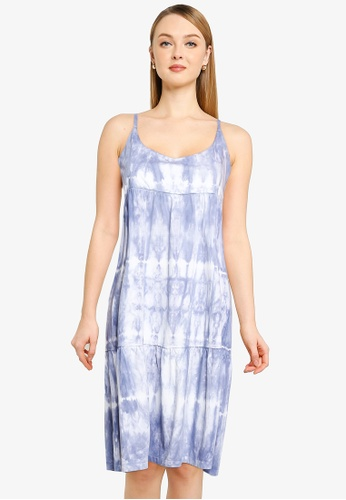 GAP blue Racerback Tiered Midi Dress BC3A7AA5AF04E2GS_1