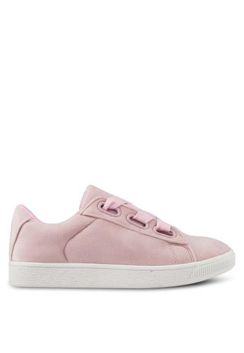 Something Borrowed pink Grograin Lace Sneakers 26125SH4F4100EGS_1