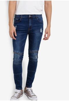 851e12e14dc77 Flesh Imp blue Damon Zipper Denim Jeans FL064AA99VWMMY_1