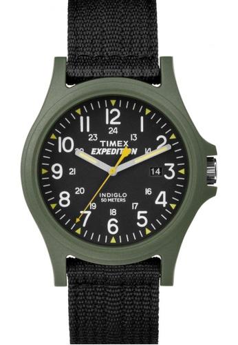 TIMEX black Timex Expedition® Acadia - Black Nylon Performance Strap Watch TI857AC68COPSG_1