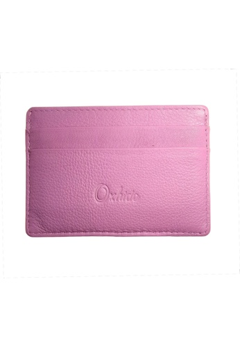 Oxhide purple Leather Card Holder Leather Card Case Oxhide JG4181P PURPLE F18D2ACFFBF024GS_1