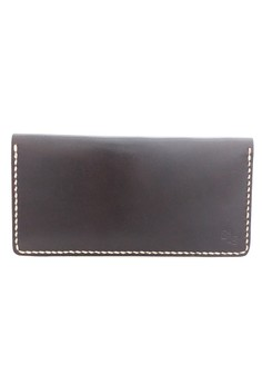 Hand Stitched Italian Leather Long Wallet