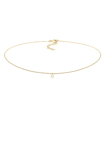 ELLI GERMANY gold Elli Germany Necklace Choker Geo Trend Basic Moonstone 925 Silver Gold Plated 837C3ACB25619AGS_1