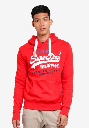 Superdry red Premium Goods Tri Hood ED6CEAA571A911GS_1