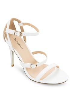 Tri Strap Sandal Heel