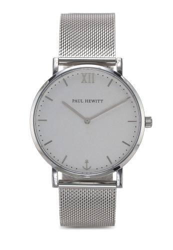Paul Hewitt silver Sailor Line White Sand Watch 50EBAAC7127B5AGS_1