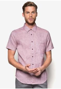 Textured Fine Stripe Short Sleeve Shirt