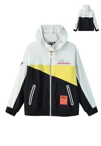 FILA grey FILA x Maison MIHARA YASUHIRO Logo Color Blocks Hooded Jacket 5D5D0AACC0B4B5GS_1