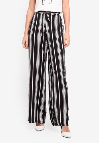 Dorothy Perkins black Stripe Palazzo Trousers 76BF9AA7B464DFGS_1