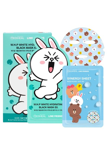 Mediheal green Mediheal LINE FRIENDS W.H.P White Hydrating Black Mask Box [8 Sheets + 2 Packets of Synergy Masks] 8C637BEDAEA83FGS_1