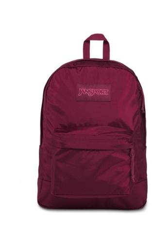 Jansport red Jansport Unisex Mono SuperBreak Backpack Russet Red - 26L BDE6AAC6AE60B2GS_1
