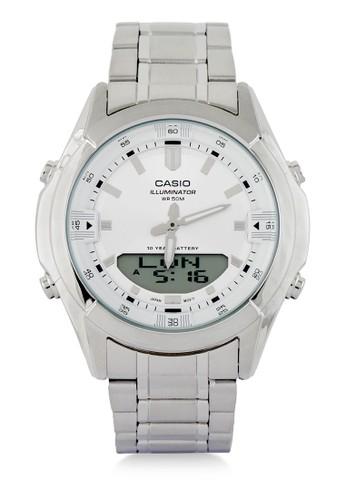 Casio Casio Men AMW-840D-7AVDF Silver White 73EC0ACA6E1A14GS_1
