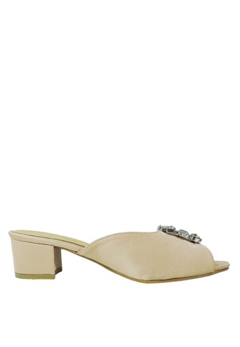 Jacque beige Stella Beige Low Heel JA262SH90WNDMY_1